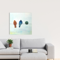 Canvas 24 x 24 - Perched abstract birds