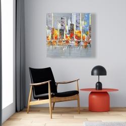 Canvas 24 x 24 - Color splash cityscape