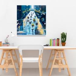 Canvas 24 x 24 - Rainy streets of new york