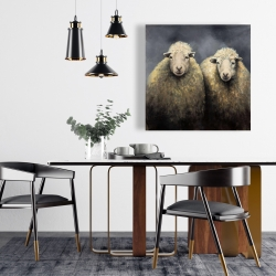 Canvas 24 x 24 - Wool sheeps