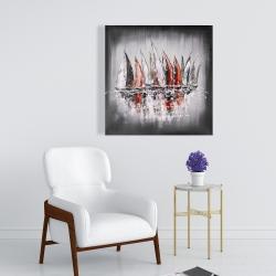 Toile 24 x 24 - Voiliers avec éclats de peinture