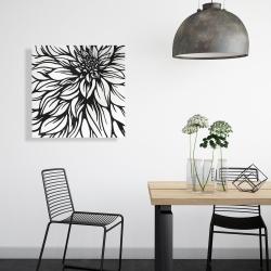 Canvas 24 x 24 - Dahlia flower outline style