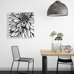 Canvas 24 x 24 - Dahlia flower outline style