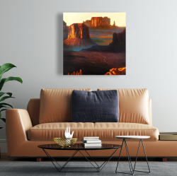 Canvas 24 x 24 - Monument valley tribal park in arizona