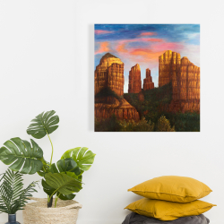 Canvas 24 x 24 - Cathedral rock in arizona
