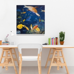 Canvas 24 x 24 - Colorful fish under the sea