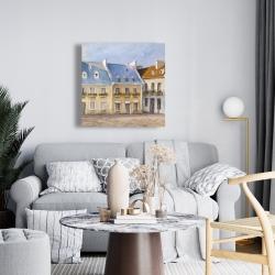 Canvas 24 x 24 - Old quebec city