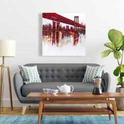 Canvas 24 x 24 - Red bridge