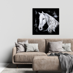 Canvas 24 x 24 - Abstract horse profile view