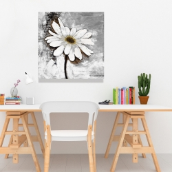 Canvas 24 x 24 - Abstract daisy