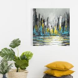 Canvas 24 x 24 - Abstract blue skyline