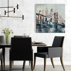 Toile 24 x 24 - Pont abstrait et texturé