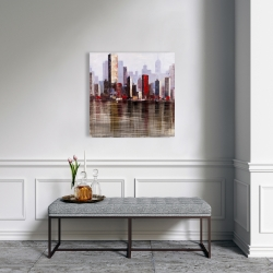 Canvas 24 x 24 - Industrial city style