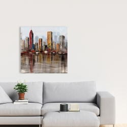 Canvas 24 x 24 - Rust looking city