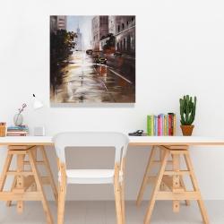 Canvas 24 x 24 - Morning street scene