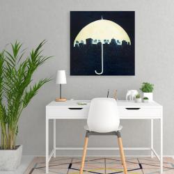Canvas 24 x 24 - The city under the umbrellas