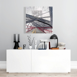 Canvas 24 x 24 - Under the brooklyn bridge