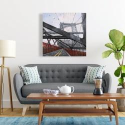 Canvas 24 x 24 - Brooklyn bridge architecture