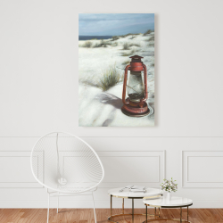 Canvas 24 x 36 - Lantern on the beach