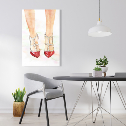 Canvas 24 x 36 - Red studded high heels