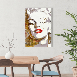 Canvas 24 x 36 - Marilyn monroe with typography