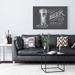 Canvas 24 x 36 - Vintage beer signboard