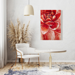 Canvas 24 x 36 - Red chrysanthemum