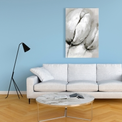 Canvas 24 x 36 - Tulips with typography