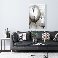 Canvas 24 x 36 - Three white tulips