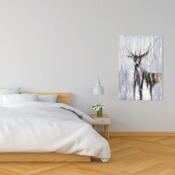 Canvas 24 x 36 - Winter abstract deer