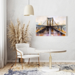 Canvas 24 x 36 - Colorful brooklyn bridge