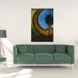 Canvas 24 x 36 - Peacock feather center