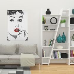Canvas 24 x 36 - Audrey hepburn outline style
