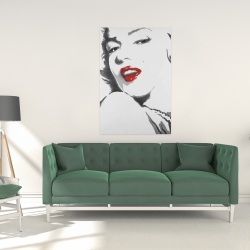 Canvas 24 x 36 - Marilyn monroe outline style