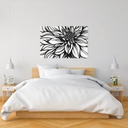 Canvas 24 x 36 - Dahlia flower outline style