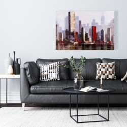 Canvas 24 x 36 - Industrial city style