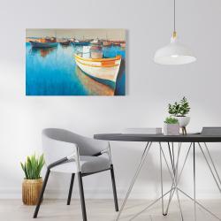 Canvas 24 x 36 - Fishing boats at the marina