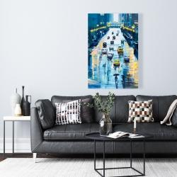 Canvas 24 x 36 - Rainy streets of new york