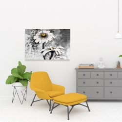 Canvas 24 x 36 - Abstract daisies flowers