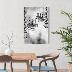 Canvas 24 x 36 - Two crystal chandeliers