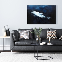 Canvas 24 x 36 - Swimming dolphin