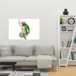 Canvas 24 x 36 - Watercolor chameleon