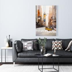 Canvas 24 x 36 - Calm street with taxi