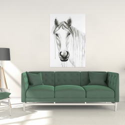 Canvas 24 x 36 - Solitary white horse