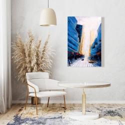 Canvas 24 x 36 - Blue asymmetrical street