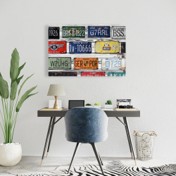 Toile 24 x 36 - Plaques d'immatriculations