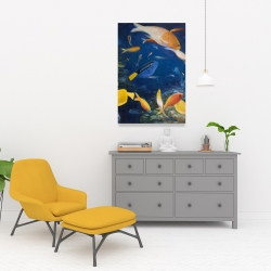 Canvas 24 x 36 - Colorful fish under the sea