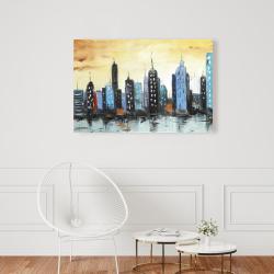 Canvas 24 x 36 - Skyline on cityscape