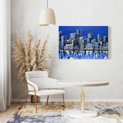 Canvas 24 x 36 - City in blue