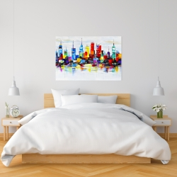 Canvas 24 x 36 - Abstract and colorful city